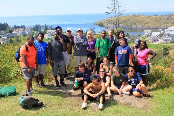 Maine Trekkers and Urban Trekkers students explore Monhegan Island.