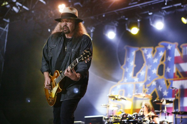 Gary Rossington, of Lynyrd Skynyrd performs Friday Sept. 7, 2012, at Scarborough Downs in Scarborough, Maine.
