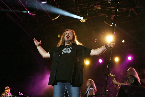 Johnny Van Zant of Lynyrd Skynyrd performs Friday Sept. 7, 2012, at Scarborough Downs in Scarborough, Maine.
