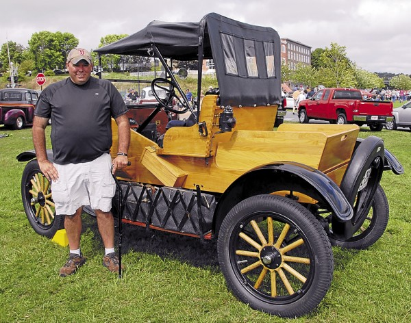 Roland Donovan displayed his restored 1923 Ford Model T during the Sept. 8 Wheels on the Waterfront car show in Bangor. Not a car and yet not a truck, the vehicle could be classified as