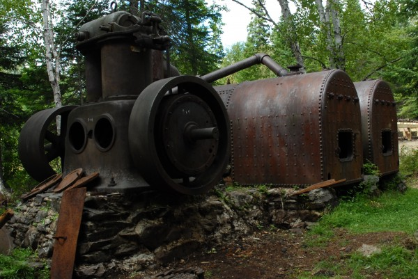 The old boilers that once powered the Allagash tramway have withstood time and the elements.