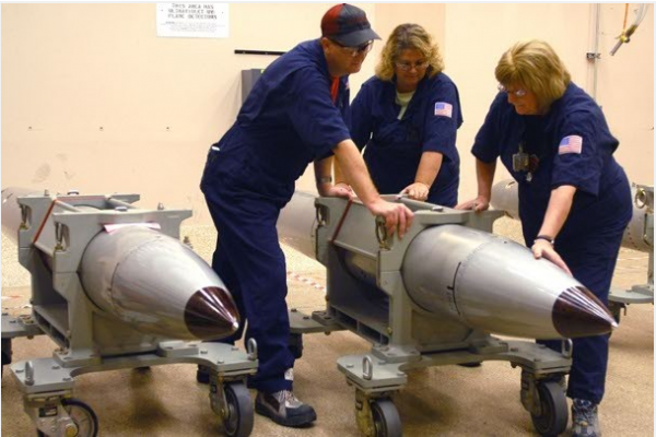 Technicians at the Pantex Plant in Texas, where nuclear bombs are disassembled for testing, prepare to start the evaluation process on a B61 nuclear bomb, the oldest in the arsenal. The B61 is about to undergo a major overhaul that the Pentagon estimates will cost up to $10 billion, or $25 million per bomb.