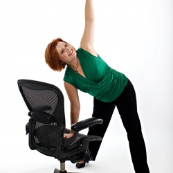 Use your chair to improve posture and range of motion