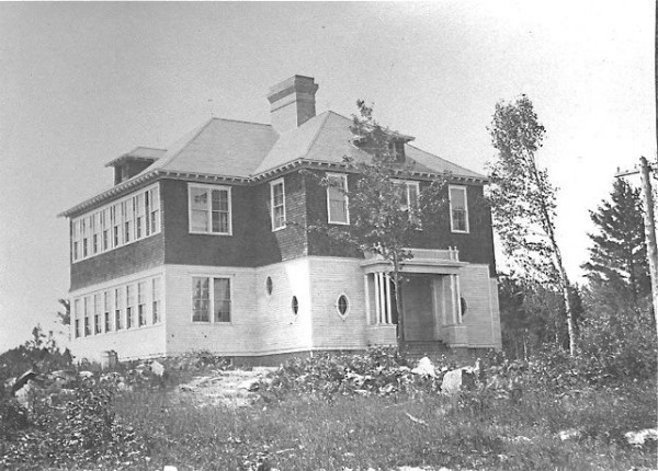 first high school in Greenville - early 1900s.  Photo courtesy of the Moosehead Historical Society and Museum.