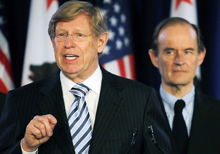 Attorneys Theodore B. Olson, left, and David Boies have asked the court to let stand a ruling by the U.S. Court of Appeals for the 9th Circuit in San Francisco, which overturned Proposition 8 but did not decide on the right to marry.