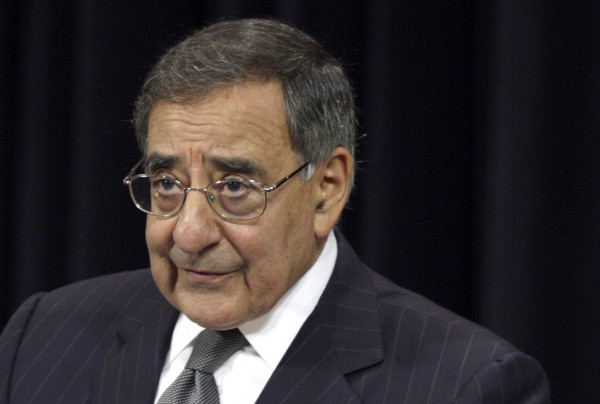 Defense Secretary Leon Panetta speaks recently at NATO headquarters in Brussels. The military is ready to retaliate if the nation is hit by cyber weapons, according to Panetta, as an executive order is being prepared for President Barack Obama