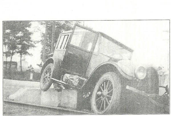The expedition's Demi Sedan Franklin swerved onto trolley tracks in Dayton, Ohio in an effort to avoid hitting a milk truck.