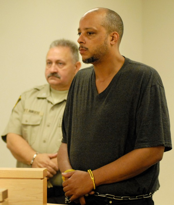 Randall &quotRicky&quot Daluz, 34, of Brockton, Mass., pleaded not guilty to three counts of murder and one count of arson at his arraignment Thursday morning at the Penobscot Judicial Center.