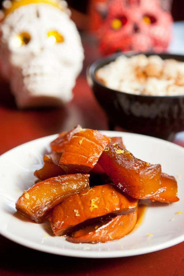 Candied Pumpkin and Mexican Rice Pudding are a few of the special Day of the Dead special dishes.