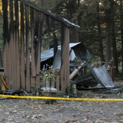 3 people, 18 pets left homeless by log cabin fire in Woodville