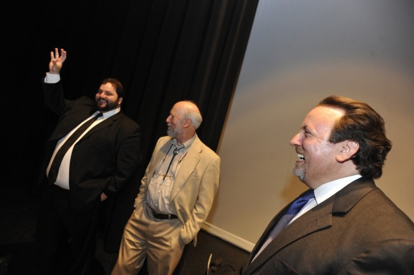 Bangor Symphony Orchestra Executive Director David Whitehill, from left,  Dr. Stuart Mars and music director Lucas Richman in 2010.