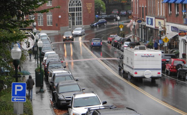 Even on a rainy October Sunday morning, Camden's Main Street is busy. Efforts to direct visitors to parking lots, and an agreement with the owners of the Knox Mill complex to lease 106 parking spots helped free up spaces on Main and Elm streets, town officials say.