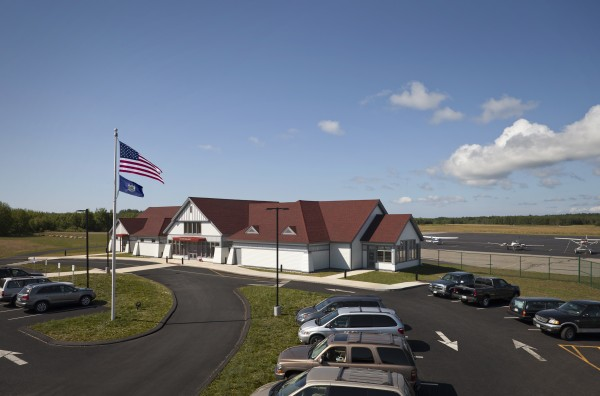 Knox County Regional Airport terminal in Owls Head.