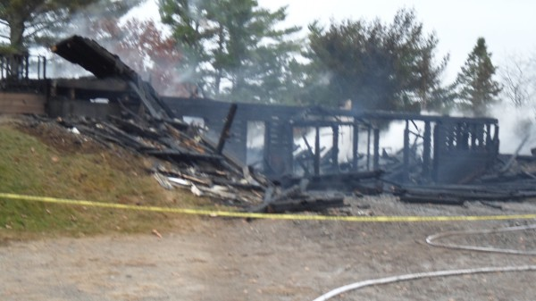 Fire leveled the First Baptist Church on Liberty Hill Road in Pembroke on Monday, Oct. 29, 2012.