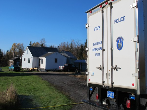 The Maine State Police Major Crimes Unit was on scene Wednesday morning at 16 Bobolink Lane in Lamoine, the site of three fatal shootings -- one by police -- the day before.