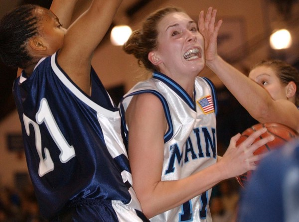The Maine Elite Showcase has drawn some top instate players such as Heather Ernest (center), who went on to a standout career at the University of Maine.