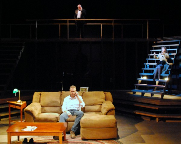 Stacey Scotte (clockwise from right), Ron Lisnet and Ken Stack in Penobscot Theatre Company's production of &quotBecky's New Car.&quot