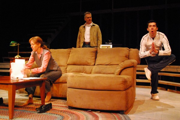 Stacey Scotte (from left), Ron Lisnet and Brad LaBree in Penobscot Theatre Company's production of &quotBecky's New Car.&quot