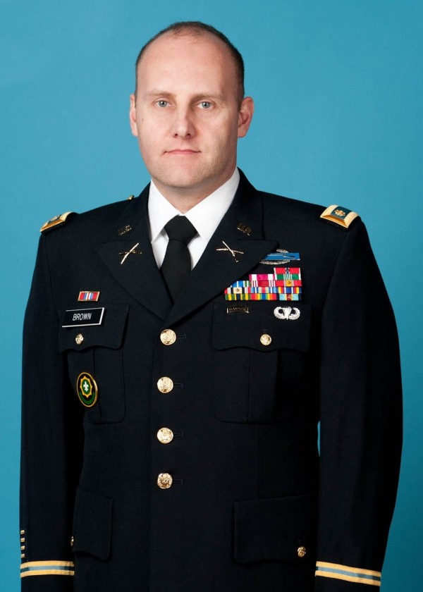 U.S. Army Major Joel Brown served two tours of duty in Iraq.