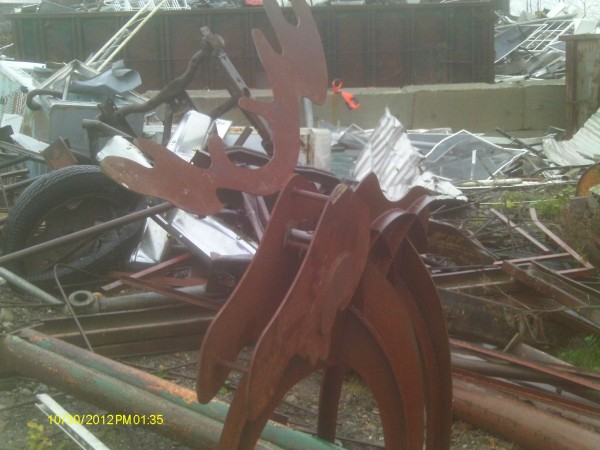 This metal sculpture was one of the items recovered from a suspect in a series of metal thefts on the midcoast.