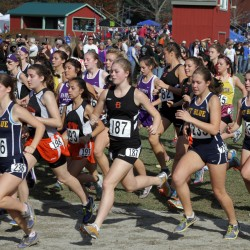 Balance, teamwork pivotal for Mount Desert Island girls cross country team in defending state title