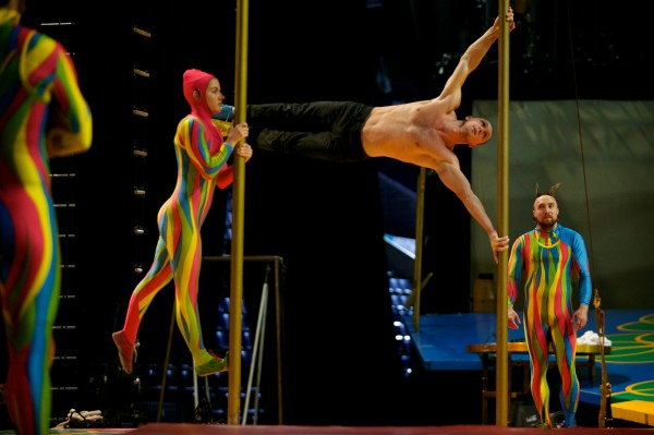 Cirque du Soleil performers practice in Portland Monday Oct. 8, 2012.