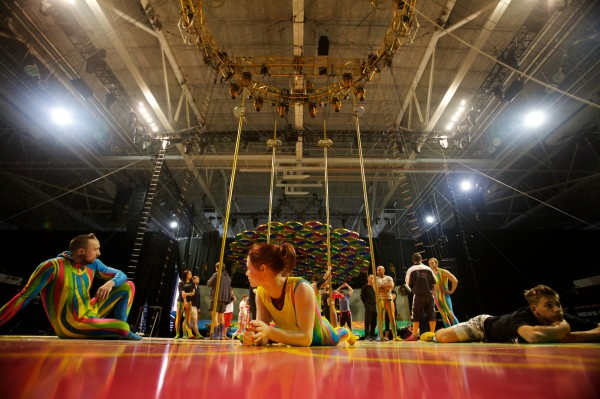 Cirque du Soleil performers practice and rest in Portland Monday Oct. 8, 2012.