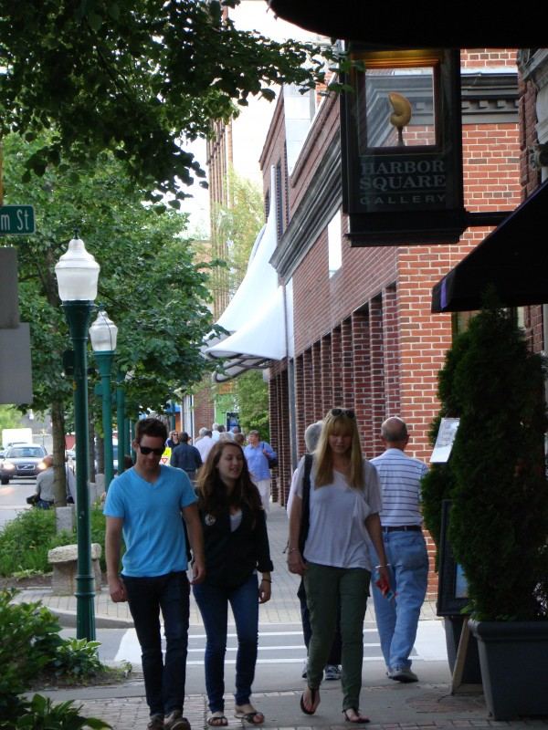 Rockland's Main Street is a busy place in the summer and early fall, thanks, in part, to an increasing number of cruise ship visits.