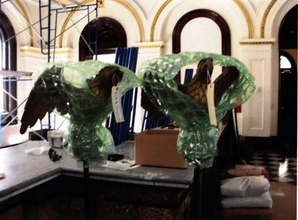 Two rare eagle sculptures that were stolen in Portland.