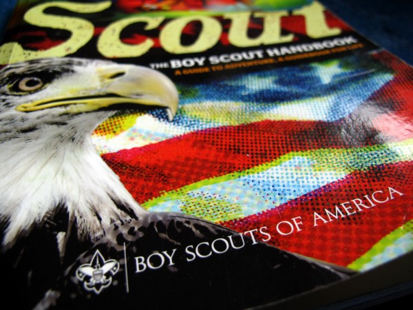 A Boy Scouts of America handbook is pictured in San Diego, Calif., on Oct. 18, 2012.