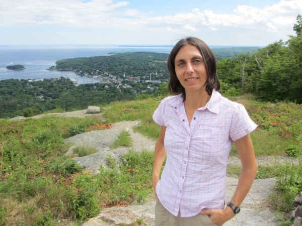 Harrington, Maine, native Gladys Ganiel, now an assistant professor in Belfast, Northern Ireland, was back in Maine in July 2012 for a visit to the top of Mount Battie in Camden.