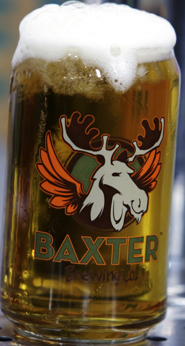 A mug of beer is seen at the Baxter Brewing Co., in Lewiston in January 2011.
