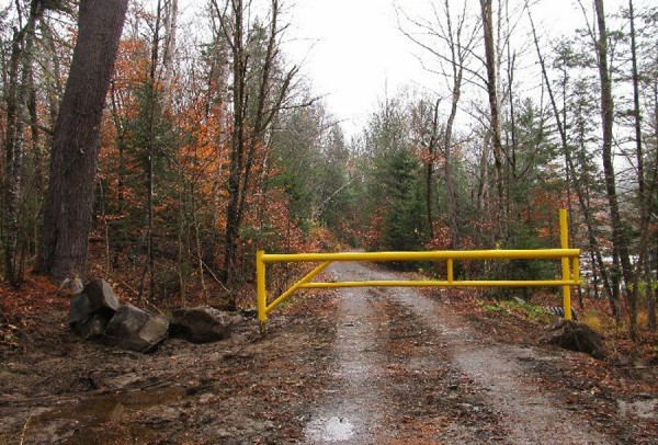 Elliotsville Township residents are upset with a gate Roxanne Quimby erected near Wilson Stream.