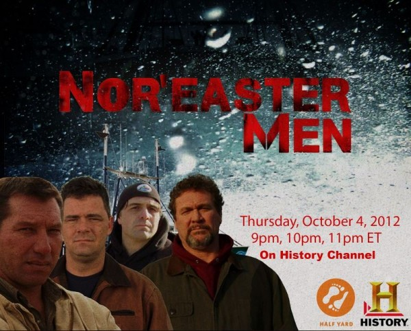 This image advertises the History Channel's new reality show &quotNor'easter Men,&quot which debuts Thursday, Oct. 4, 2012, and features a fishing crew from Harpswell.