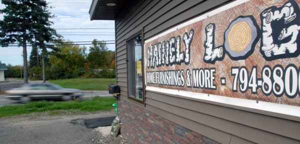As seen here on Wednesday, Oct. 3, 2012, the new Mainely Log Home Furnishings store at 64 West Broadway in Lincoln offers Amish-made furniture and household items.
