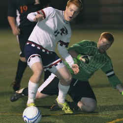 Bangor Christian wins third straight 'D' boys soccer title; Wilcox sets state scoring mark