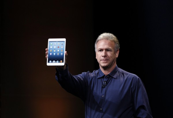 Philip Schiller, Apple's senior vice president of worldwide marketing, introduces the new iPad mini during an Apple event in San Jose, California on Oct. 23, 2012.