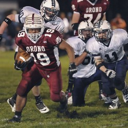 Cam Mowrer powers Orono football team past John Bapst in regular-season finale