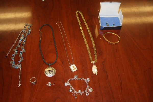 Some of the jewelry stolen from a Swanville residence.