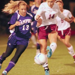 Bangor's Grace MacLean scores 3 goals in victory over Hampden 6-1