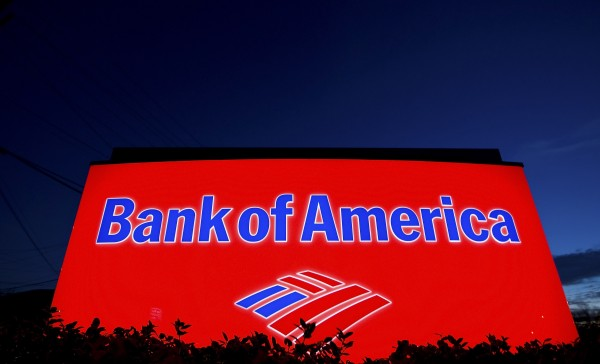 A Bank of America sign is pictured outside a bank branch in Charlotte, North Carolina, in this January 19, 2010 file photo.