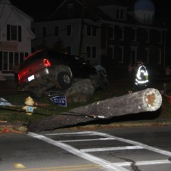 Teen snaps utility pole in crash, walks away uninjured