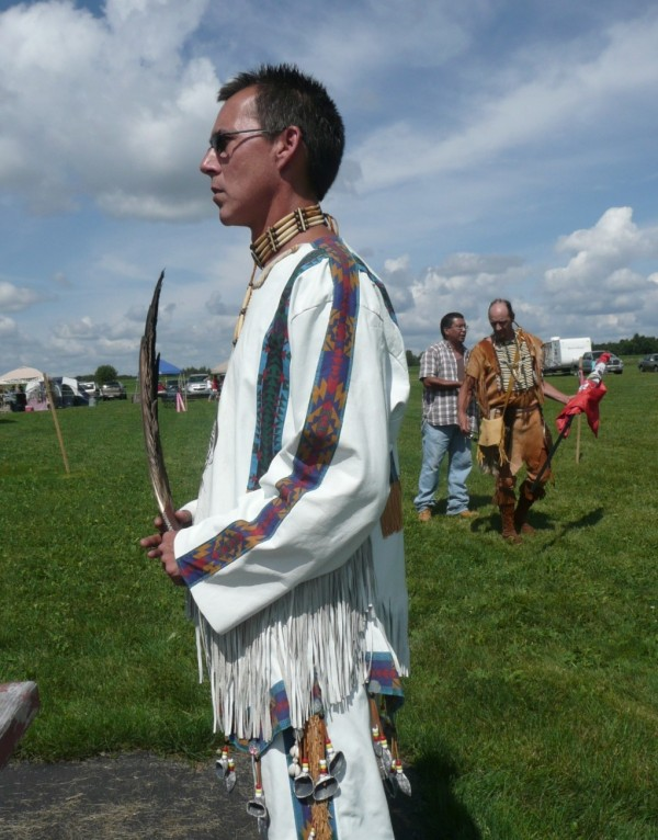 Micmac Chief Rick Getchell at the August 2012 Mawiomi gathering in Caribou