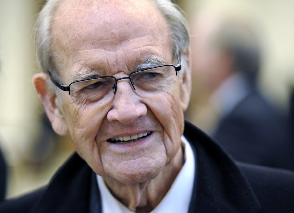 Former Democratic presidential nominee U.S. Senator George McGovern (D-SD) arrives for the funeral mass for Sargent Shriver in Potomac, in this January 22, 2011 file photo.
