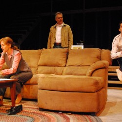 """Stacey Scotte, Brad LaBree and Ron Lisnet in Penobscot Theatre Company's production of """"Becky's New Car."""""""