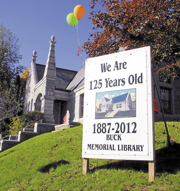 A 125th birthday party took place Oct. 17 at the Buck Memorial Library on Main Street in Bucksport. The building was deeded to library backers on Oct. 17, 1887.