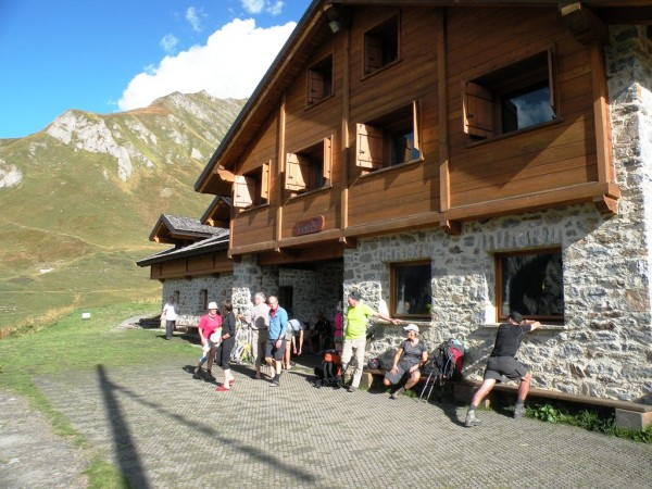 Classic alpine huts with amenities await trekkers at strategic locations.  Photo by Carey Kish.