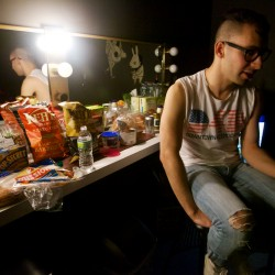 "Guitarist Jack Antonoff of the rock band fun. speaks about wanting to be on the ""right side of history"" by supporting gay marriage in Maine before his show at the State Theatre in Portland Wednesday night Oct. 31, 2012."