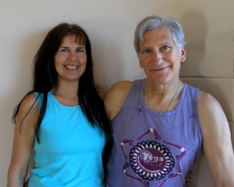 Marianna Moll with yoga master Gabriel Halpren