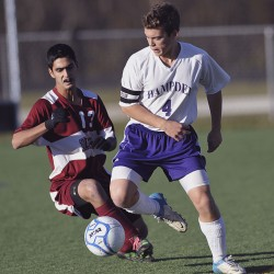 Plourde, Hammond propel Edward Little boys soccer team by Brewer